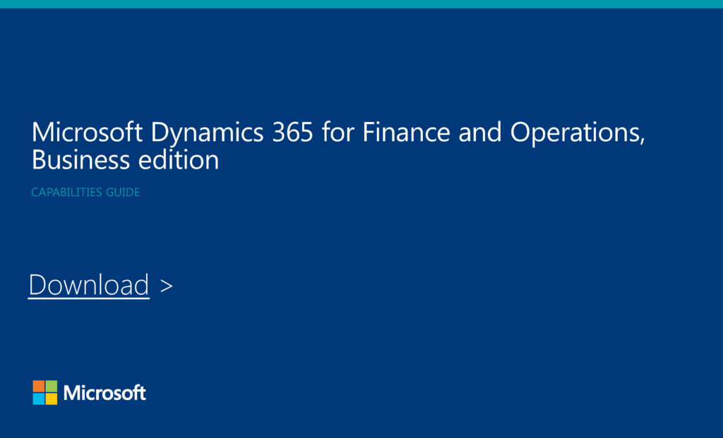 Dynamics 365 Business Edition Capability Guide